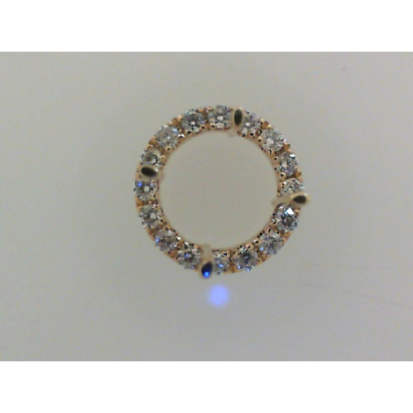 14KY Round Halo Diamond Pendant Mounting for 1.00ct. 16RBC=.14 *center stone and chain sold separately*