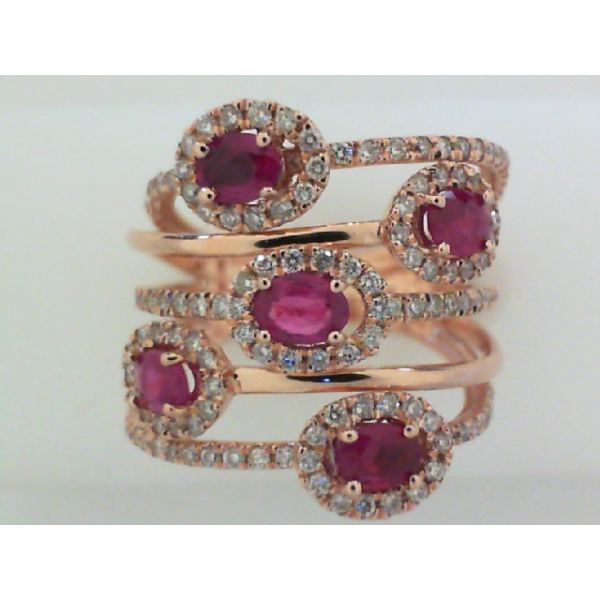 Colored Stone Ring by Royal Chain
