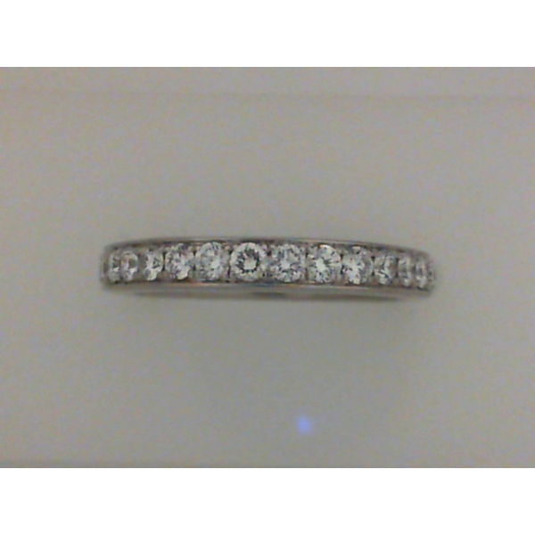 14KW Bead Set Diamond Band 17RBC=0.50, Sz. 6