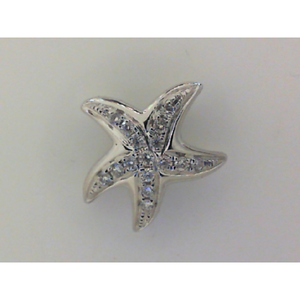 14KW Starfish Diamond Pendant 16RBC=..08 *chain sold separately*
