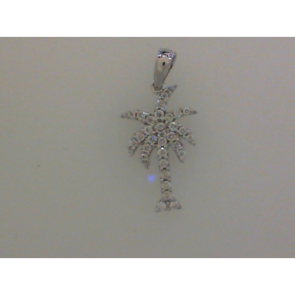 14KW Palm Tree Diamond Pendant 30RBC=.26 *chain sold separately*