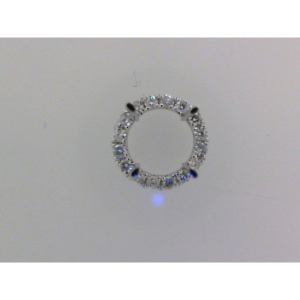 14KW Round Halo Diamond Pendant Mounting for 1.00ct. 16RBC=.13 *center stone and chain sold separately*