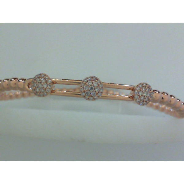 14KR Beaded Diamond Flexible Stretch Bracelet 60RBC=.21