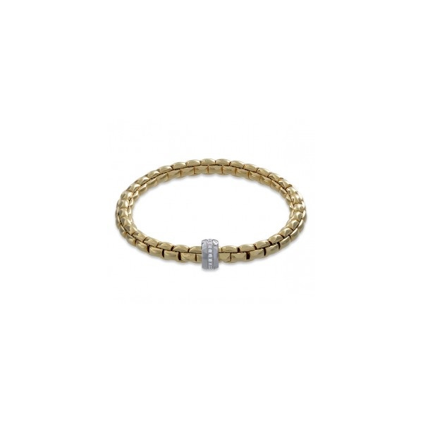 18KY/W FOPE Flex It Eka Diamond Bracelet D=.18