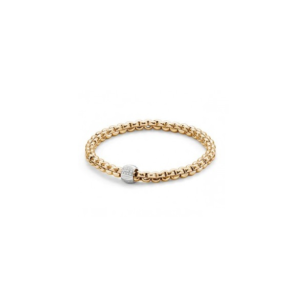 18KY/W FOPE Flex It Olly Diamond Bracelet 22RBC=.12