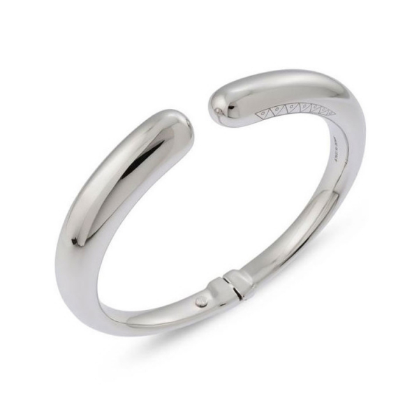 18KW Nobile Hinged Cuff Bracelet by Ugo Cala